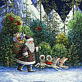 Cross-country Santa by Lynn Bywaters