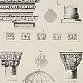 Cross Section And Architectural Details Of Kutciuk Aja Sophia The Church Of Sergius And Bacchus by D Pulgher
