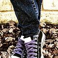 Crossed Feet Of Teen Girl by Birgit Tyrrell