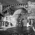 Croton Dam BW Print by Susan Candelario