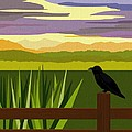 Crow In The Corn Field by Val Arie