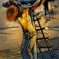 Crucifixion - Stained Glass by Ray Downing