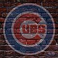 Cubs Baseball Graffiti On Brick  by Movie Poster Prints