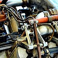 Curtiss OX-5 Airplane Engine Print by Michelle Calkins