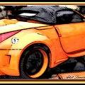 Custom Orange Sports Car