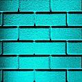 Cyan Wall by Semmick Photo