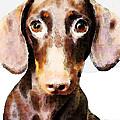 Dachshund Art - Roxie Doxie by Sharon Cummings