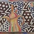 Dallah And Arabesque Motif by Beena Samuel