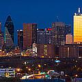 Dallas Skyline Panorama by Inge Johnsson
