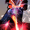 Dancing Fireworks Print by M and L Creations