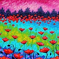 Dancing Poppies by John  Nolan