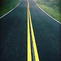 Dark Foggy Country Road by Edward Fielding