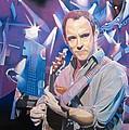 Dave Matthews and 2007 Lights Print by Joshua Morton