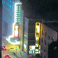 David Letterman Show Theater On Broadway E5 by Bud Anderson