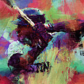 David Ortiz Abstract by David G Paul