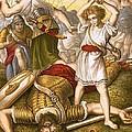 David Slaying Goliath by English School