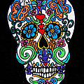 Day Of The Dead Skull by Genevieve Esson