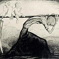 Death With Two Children Carried On His Scythe by Michel Fingesten