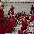 Debating Monks - Sera Monastery Lhasa by Craig Lovell
