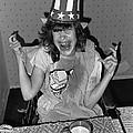 Debbie C. Celebrating July 4th Lincoln Gardens Tucson Arizona 1990 by David Lee Guss