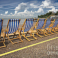 Deckchairs At Southend by Avalon Fine Art Photography