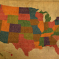 Declaration Of Independence Word Map Of The United States Of America by Design Turnpike