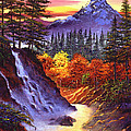 Deep Canyon Falls by David Lloyd Glover
