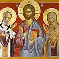 Deisis Jesus Christ St Nicholas And St Paraskevi by Julia Bridget Hayes