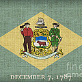 Delaware State Flag by Pixel Chimp
