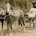 Delivering The Mail 1907 Print by Floyd Russell