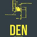 Den Denver Airport Poster 1 by Naxart Studio