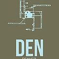 Den Denver Airport Poster 3 by Naxart Studio