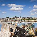 Derelict Fishing Boats Camaret Sur Mer Brittany by Colin and Linda McKie