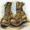Desert Boots Print by Leisa Shannon Corbett