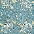 Design In Turquoise by William Morris