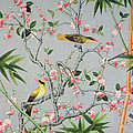 Detail Of The 18th Century Wallpaper In The Drawing Room Photograph by John Bethell