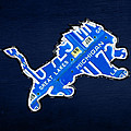 Detroit Lions Football Team Retro Logo License Plate Art by Design Turnpike