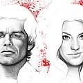 Dexter And Debra Morgan by Olga Shvartsur