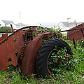 Dilapidated Farm Tractor At The Old Pierce Point Ranch In Foggy Point Reyes California 5d28120 by Wingsdomain Art and Photography