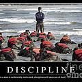 Discipline Inspirational Quote by Stocktrek Images