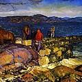 Dock Builders by George Wesley Bellows