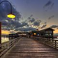Dock Lights At Jekyll Island by Debra and Dave Vanderlaan
