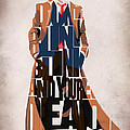 Doctor Who Inspired Tenth Doctor's Typographic Artwork Print by Ayse Deniz