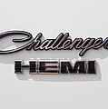 Dodge Challenger Hemi Emblem by Jill Reger