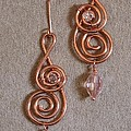 Double Spiral With Crystal  136 by Jan Brieger-Scranton
