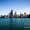 Downtown City Buildings In The Chicago Skyline by Paul Velgos