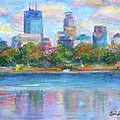 Downtown Minneapolis Skyline From Lake Calhoun by Quin Sweetman