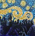Dr Who Hogwarts Starry Night by Jera Sky
