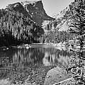 Dreaming At Dream Lake - Black And White by Harold Rau