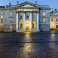 Dublin Trinity College Chapel At Night by Mark E Tisdale
